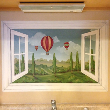 Faux Window Mural
