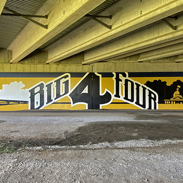 big four trail mural
