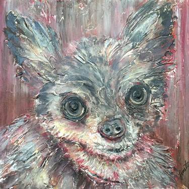 Chihuahua Plaster Portrait