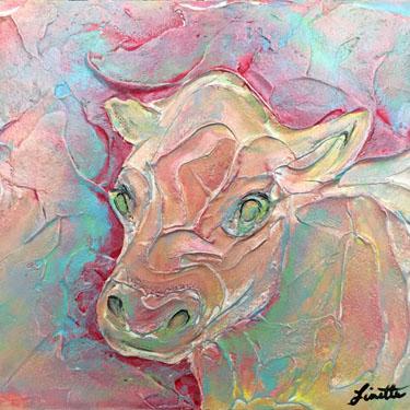 Cow Plaster Portrait