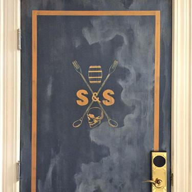 Faux Vintage Steel Door
