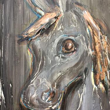 Lila horse portrait art