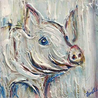 Custom Pig Plaster Painting