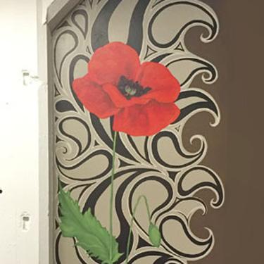 Paisley Poppy Mural