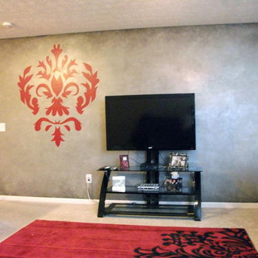 Damask Design and Metallic Accents
