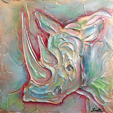 Rhino Plaster Painting