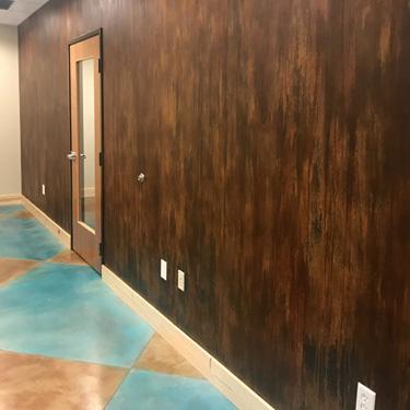 Textured Rust Patina Finish
