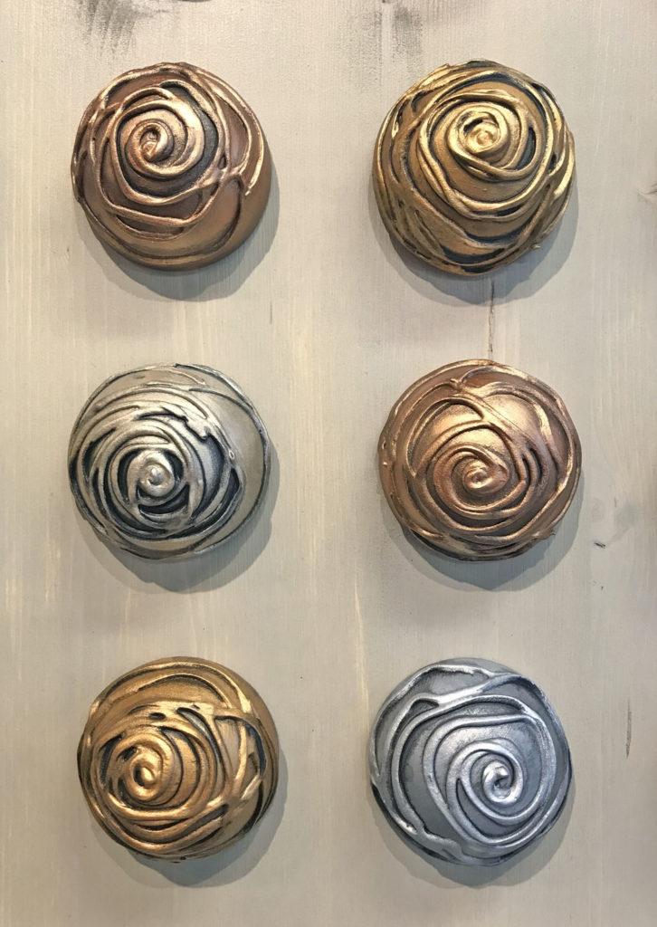 Rose Hemispheres wall art