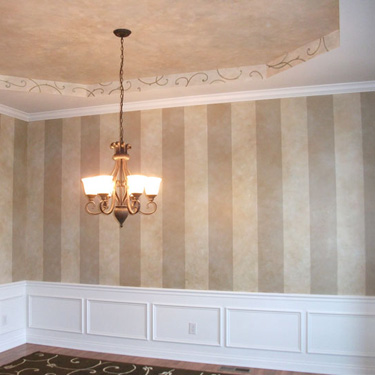 Colorwashed Stripes and Ceiling