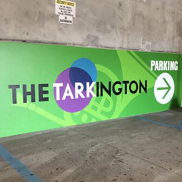 Tarkington Parking Garage Signs