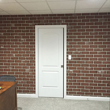 Faux Textured Brick Wall