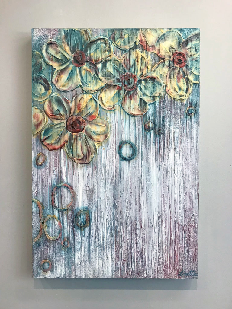 The Moment - Original modern floral art