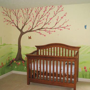 Tulip Springtime Nursery Mural