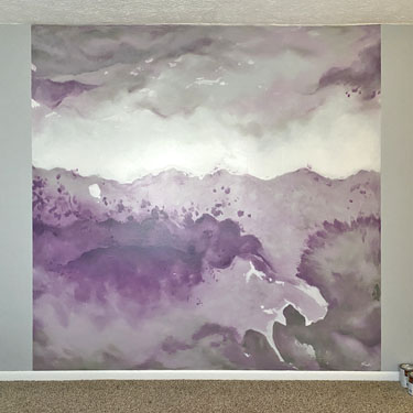 Watercolor mural