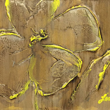 Yellow and Yummy matted painting